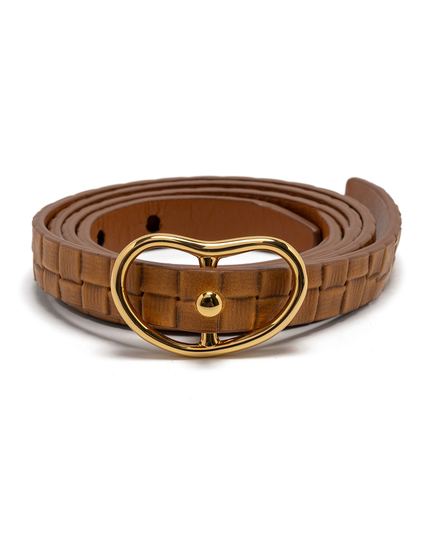 Skinny Georgia Woven Leather Belt