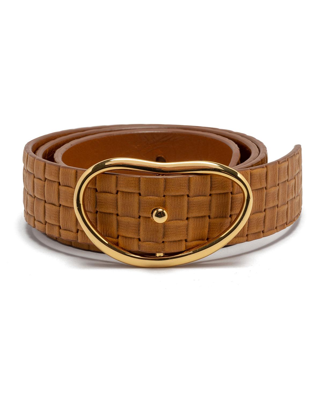 Wide Georgia Woven Leather Belt