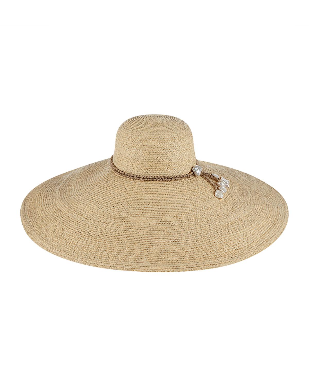 Rejina Wide-Brim Raffia Sun Hat