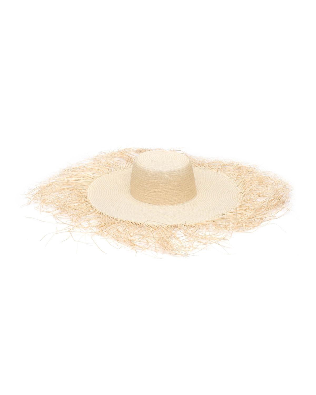 Franny Frayed Straw Sun Hat