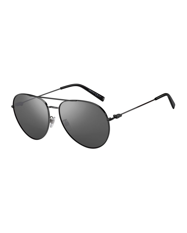 Mirrored Metal Aviator Sunglasses