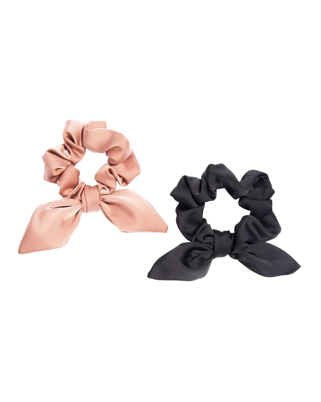 Satin Bow Scrunchies