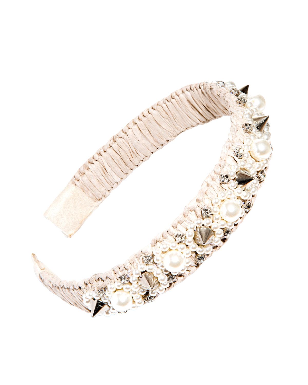 Mykonos Embellished Straw Headband