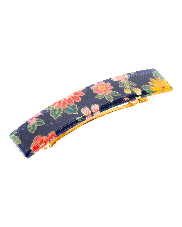 Floral-Print Barrette