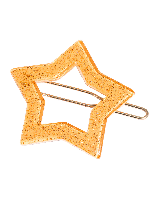 Star Tige Boule Barrette, Glitter Orange