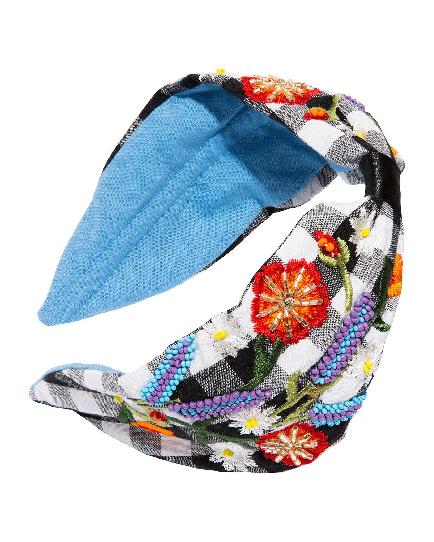 Picnic Flower Beaded Jersey Headband