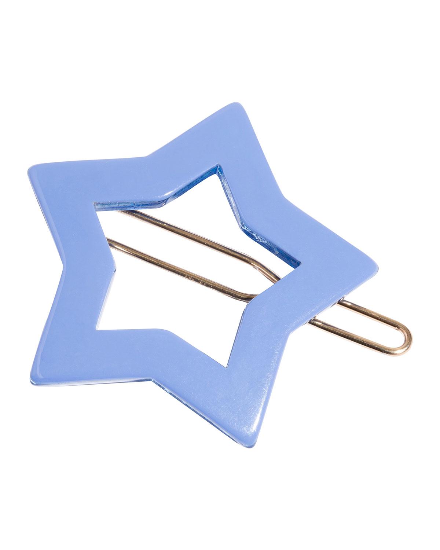 Star Tige Boule Barrette, Blue