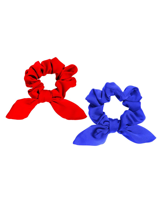 Seaside Bow Satin Scrunchies