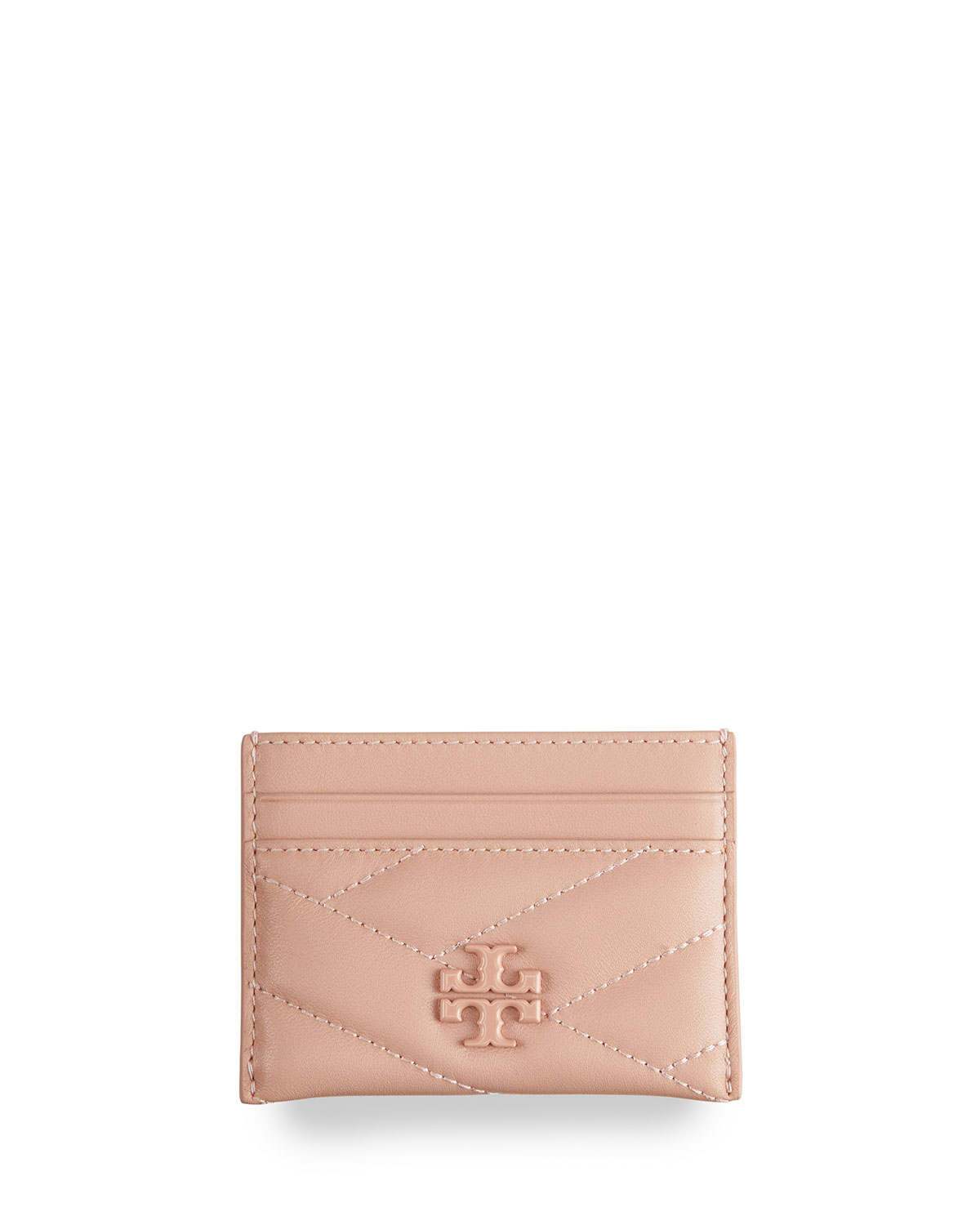 Tory Burch Leathers KIRA QUILTED LOGO CARD CASE