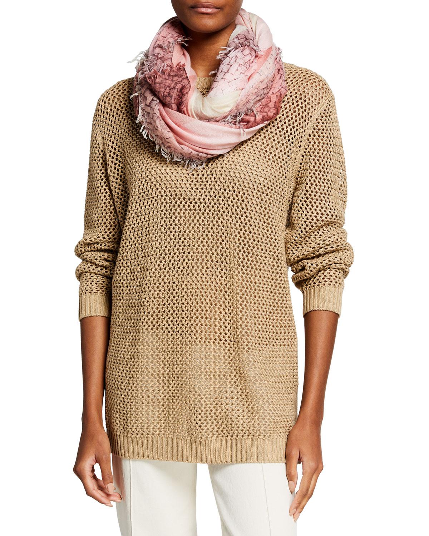 Charmix Gingham Wool/Silk Scarf