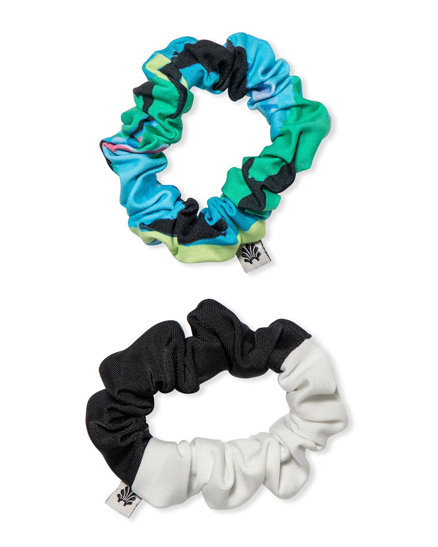 Two-Tone & Striped Scrunchies