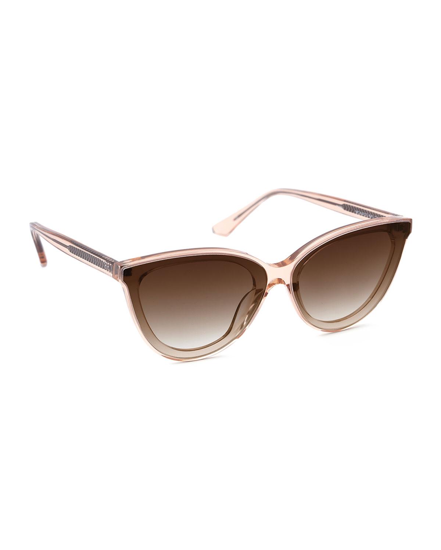 Monroe Nylon Acetate/Metal Cat-Eye Sunglasses