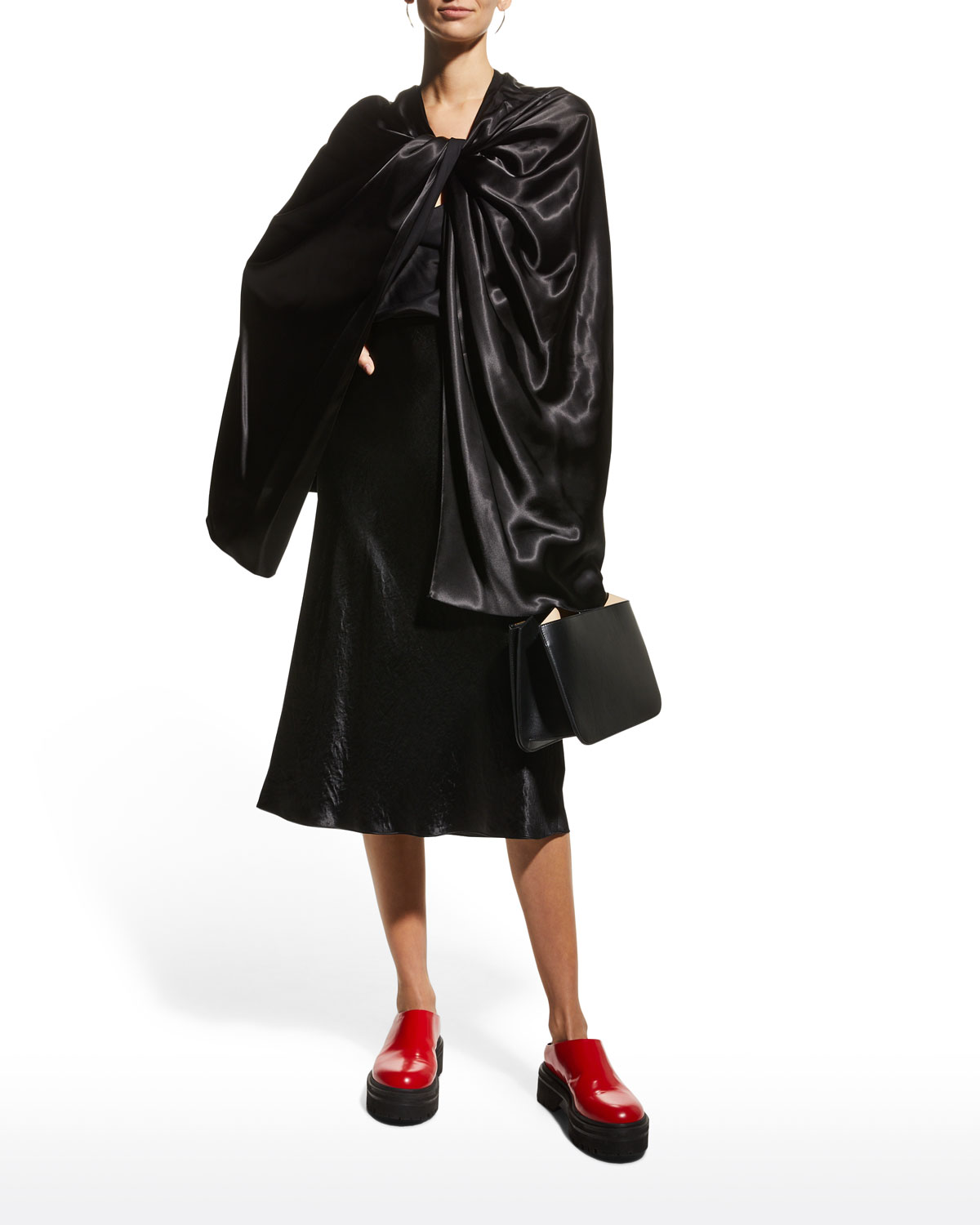 Twisted Satin Capelet