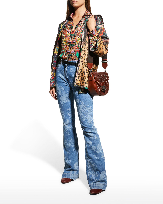 Kesa Mixed-Print Jacket