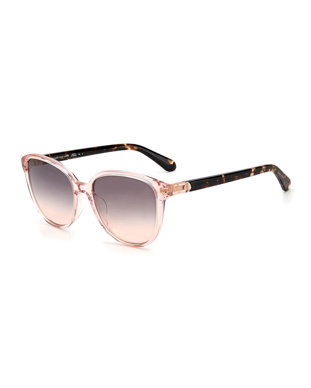 vienne round acetate sunglasses
