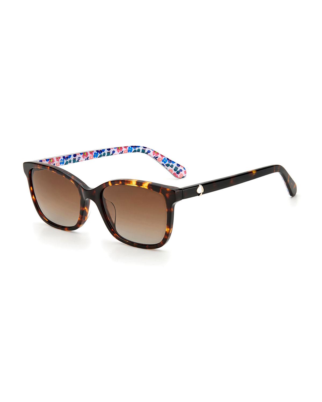 tabitha polarized rectangle acetate sunglasses