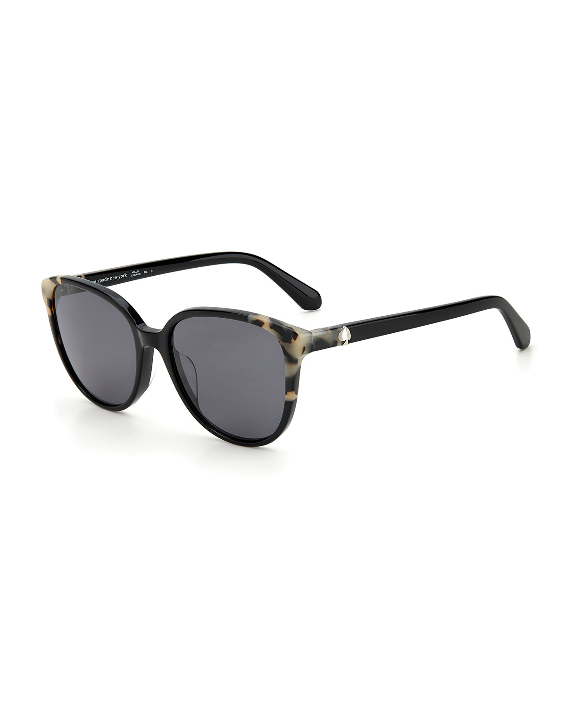 vienne polarized round acetate sunglasses