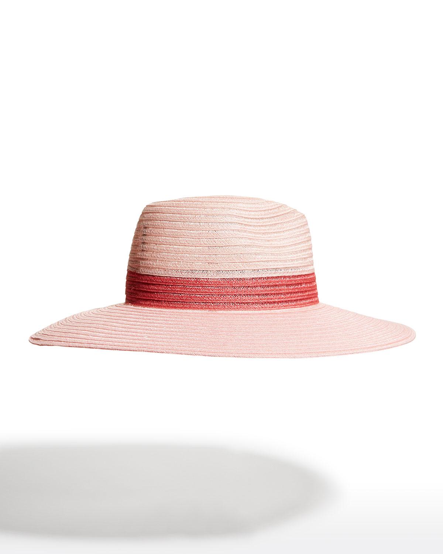 Emmanuelle Bicolor Woven Fedora Hat