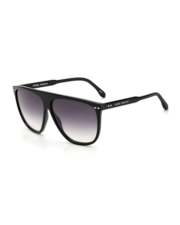 Acetate Semi-Shield Sunglasses