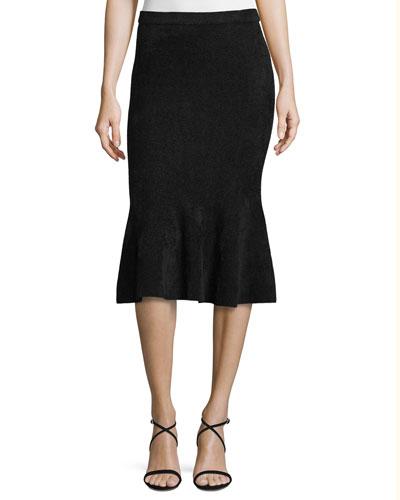 Chenille Knit Flounce Skirt