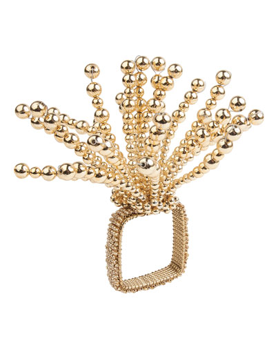 Gold Fireworks Napkin Ring