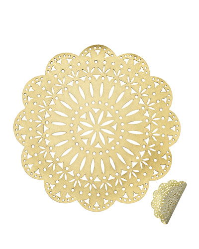 Gold/Beige Fete Reversible Placemat