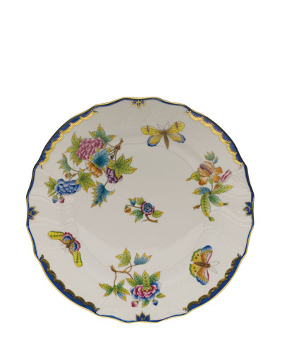 Queen Victoria Blue Dinner Plate
