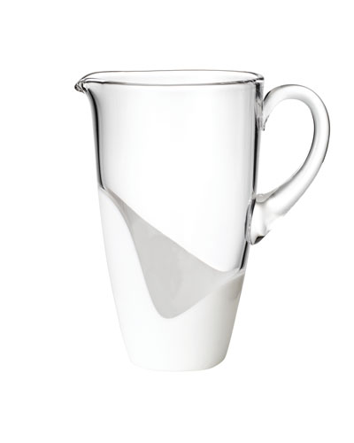 Vague Clear/White Pitcher
