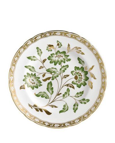 Derby Panel Green Dessert Plate