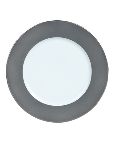 Color Block Gray/Platinum Bread & Butter Plate