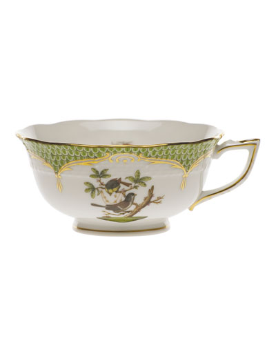 Rothschild Bird Borders Green Teacup #1