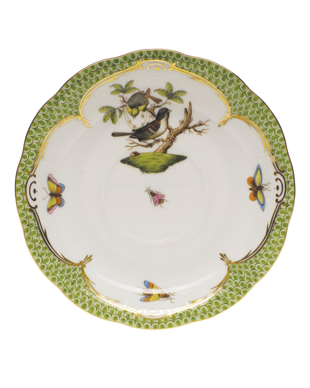 Rothschild Bird Borders Green Tea Saucer #1