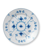 Blue Fluted Plain Dessert Plate