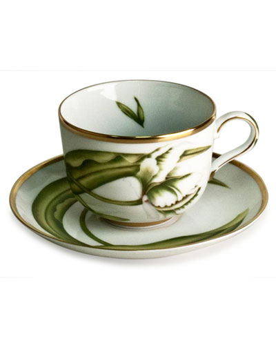 White Tulips Saucer
