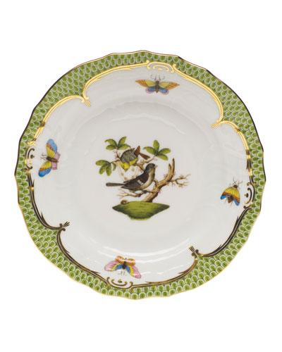 Rothschild Bird Borders Green Bread & Butter Plate #1