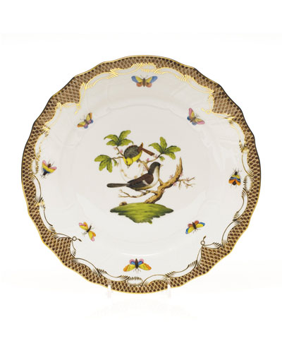 Rothchilds Bird Brown Dinner Plate