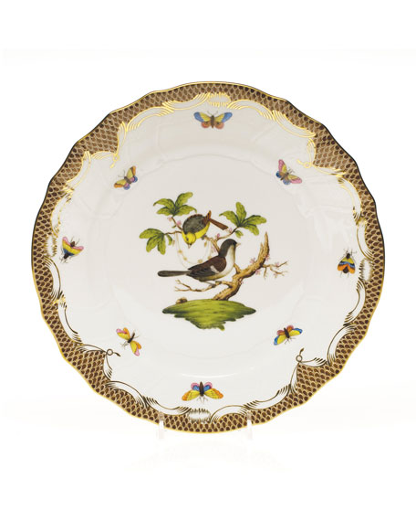 Herend Rothchilds Bird Brown Dinner Plate