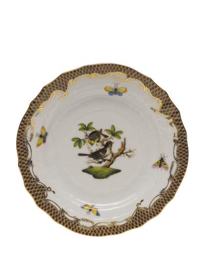 Rothchilds Bird Brown Bread & Butter Plate