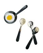 Alfredo Horn Spoons, 4-Piece Set