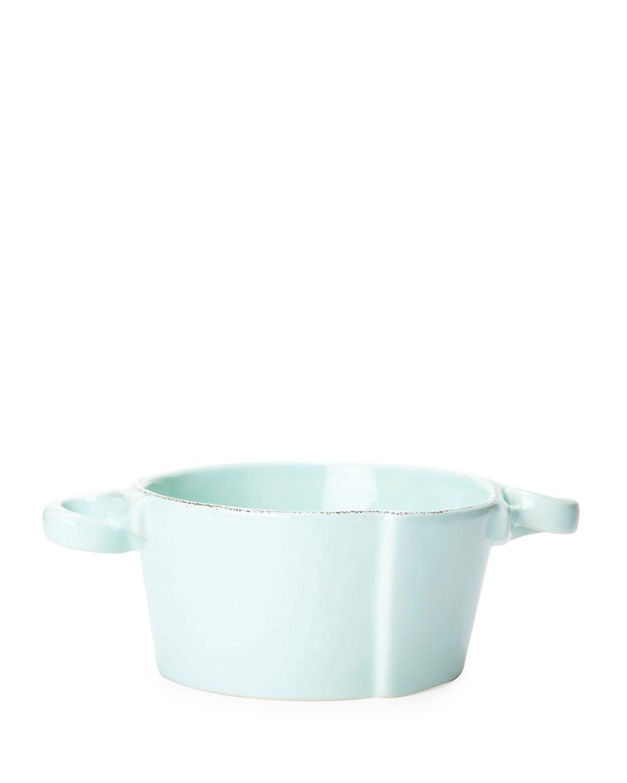 Vietri Dinnerwares LASTRA AQUA SMALL HANDLED BOWL