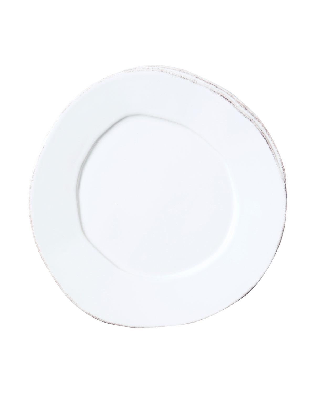 Vietri Dinnerwares LASTRA WHITE SALAD PLATE