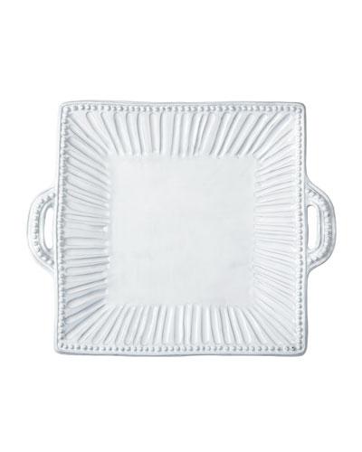 Incanto White Stripe Handled Platter