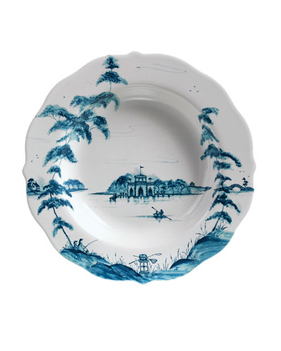 Country Estate Delft Blue Rim Soup Bowl