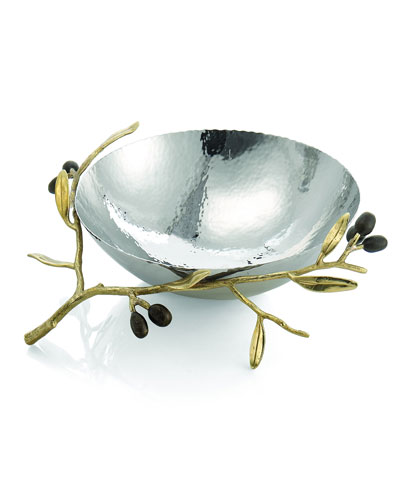 Gold Olive Branch Medium Serving Bowl
