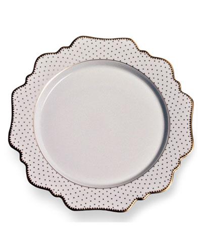 Simply Anna Antique Polka Salad Plate