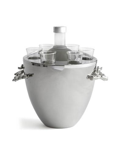 Ocean Coral Vodka Service/Ice Bucket