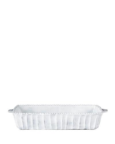 Vietri Incanto White Stripe Medium Baking Dish