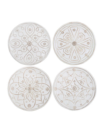 Jardins du Monde Canape Plates, Set of 4
