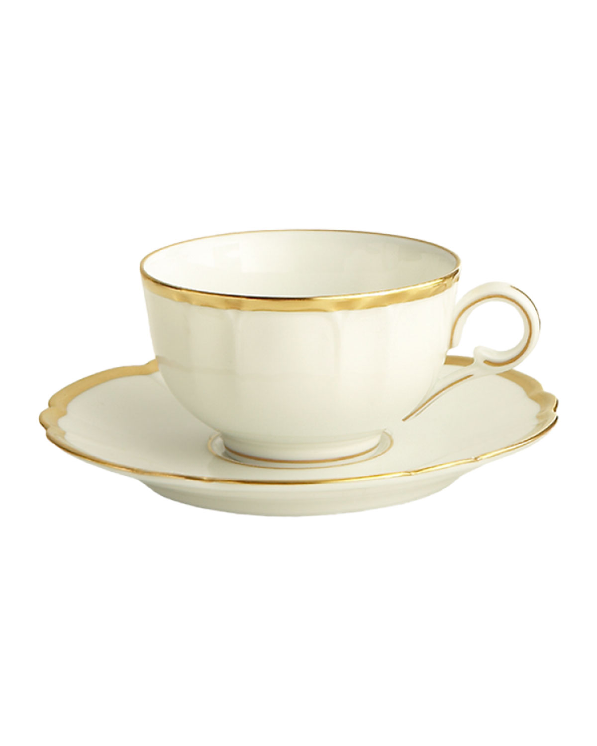 Haviland & Parlon Drinkwares COLETTE GOLD CUP AND SAUCER