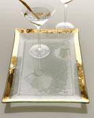 Roman Antique Gold Martini Tray
